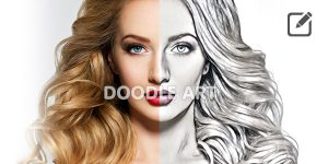 How To Create Doodle Image Using Pencil Sketch Master