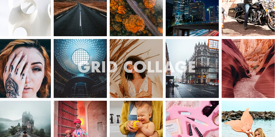 How To Make Grid Collage Photo Using Blend Collage
